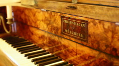 Philip Gilgen in Würzburg piano, close up, shallow DOF - stock footage