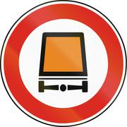 Road sign used in Slovakia - No vehicles carrying dangerous goods Stock Illustration