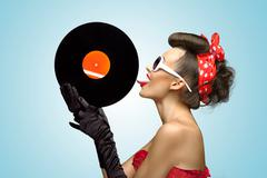 The vinyl desire. - stock photo