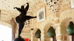 Dancing fat woman sculpture, Tel-Aviv, Israel Stock Footage