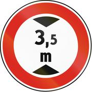 Road sign used in Slovakia - Height limit - stock illustration