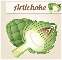 Artichoke. Detailed Vector Icon - stock illustration