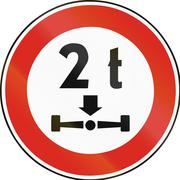 Road sign used in Slovakia - Axle load limit Stock Illustration