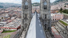 Quito Basilica Video Stock Footage