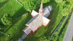 Church in Flakstad on Lofoten Stock Footage