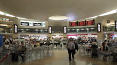 Main hall of Ben Gurion International Airport, Tel-Aviv, Israel - stock footage