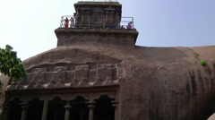 Tilt WS of an ancient complex in Mamallapuram, India Stock Footage
