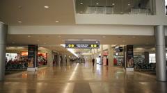 Corridor leading to duty free shops, Ben Gurion Airport, Tel-Aviv, Israel Stock Footage