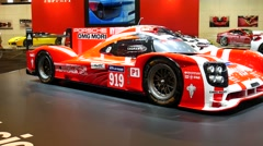 Porsche 919 Hybrid race car Stock Footage