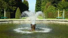 The fountain in the city park of the city of Hanover, Germany Stock Footage