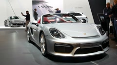 Porsche Boxster Spyder and  Porsche 911 Turbo S Stock Footage