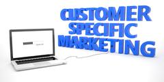 Customer Specific Marketing - stock illustration
