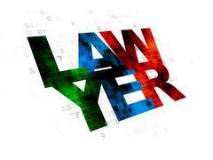 Law concept: Lawyer on Digital background - stock illustration