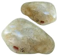 Two Labradorite gemstones isolated Stock Photos