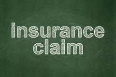 Insurance concept: Insurance Claim on chalkboard background - stock illustration