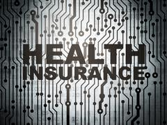 Insurance concept: circuit board with Health Insurance Stock Illustration