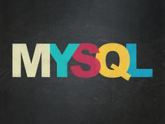 Software concept: MySQL on School Board background - stock illustration
