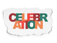 Stock Illustration of Holiday concept: Celebration on Torn Paper background