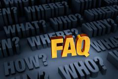 A FAQ For Many Questions - stock illustration