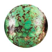 Bead from old green turquoise mineral gem stone Stock Photos