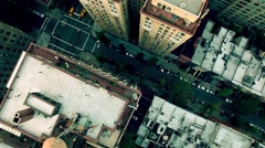 City business district. modern skyline cityscape. aerial view. shot on red epic Stock Footage