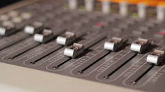 Sound mixer in a professional  studio Stock Footage