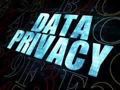Security concept: Data Privacy on Digital background - stock illustration