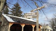 Old West Establishing Shot Winter Time - Stock Footage