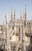 Grandiose Milan cathedral (Duomo di Milano), Italy - stock photo