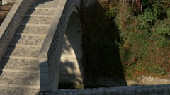 Beautiful view of Kriva Cuprija bridge in Mostar, Bosnia-Herzegovina Stock Footage