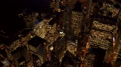 Aerial view of new york city skyline. cityscape metropolis. Shot on Red Epic - stock footage