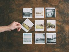 Old instant pictures Stock Photos