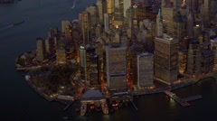 city business district. modern skyline cityscape. aerial view. shot on red epic - stock footage