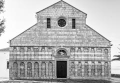 Cathedral of the Assumption of the Blessed Virgin Mary in Rab, Croatia. - stock photo