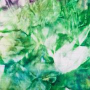 abstract hand painted green nodular batik - stock photo