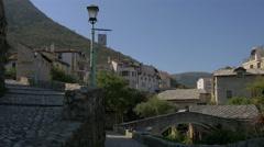 Stock Video Footage of Narrow streets near the Crooked Bridge in Mostar, Bosnia-Herzegovina