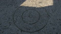 Stock Video Footage of Close view of a peble circle on the streetin Mostar, Bosnia-Herzegovina