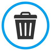 Rubbish Basket Icon Stock Illustration