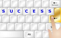 Stock Illustration of Success concept PC keyboard