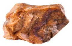 piece of orthoclase (orthoclase feldspar) mineral - stock photo