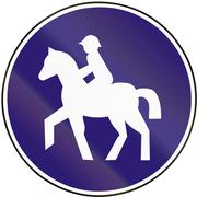 Stock Illustration of Road sign used in Slovakia - Road for mounts