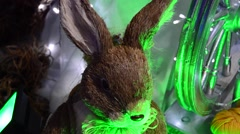 Artificial hare Stock Footage