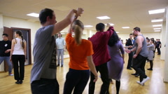 Beginning dancers and their teachers at the school dance. Stock Footage