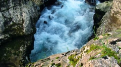 Canyon with river rapids - stock footage