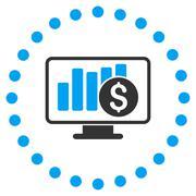 Stock Market Monitoring Icon - stock illustration