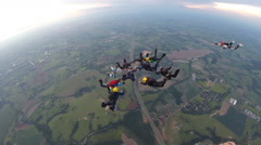 Skydiving separation people Stock Footage