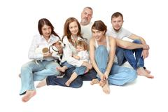 Large Group of People, Big Family - stock photo