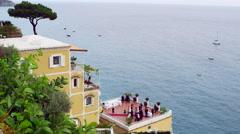 Amalfi Coast Wedding Italy 4K Stock Video Footage - stock footage
