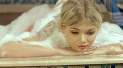 Girl on massage in the hammam Stock Footage