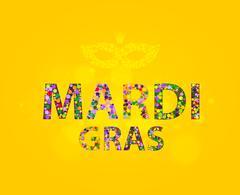 Mardi Gras Circles - stock illustration